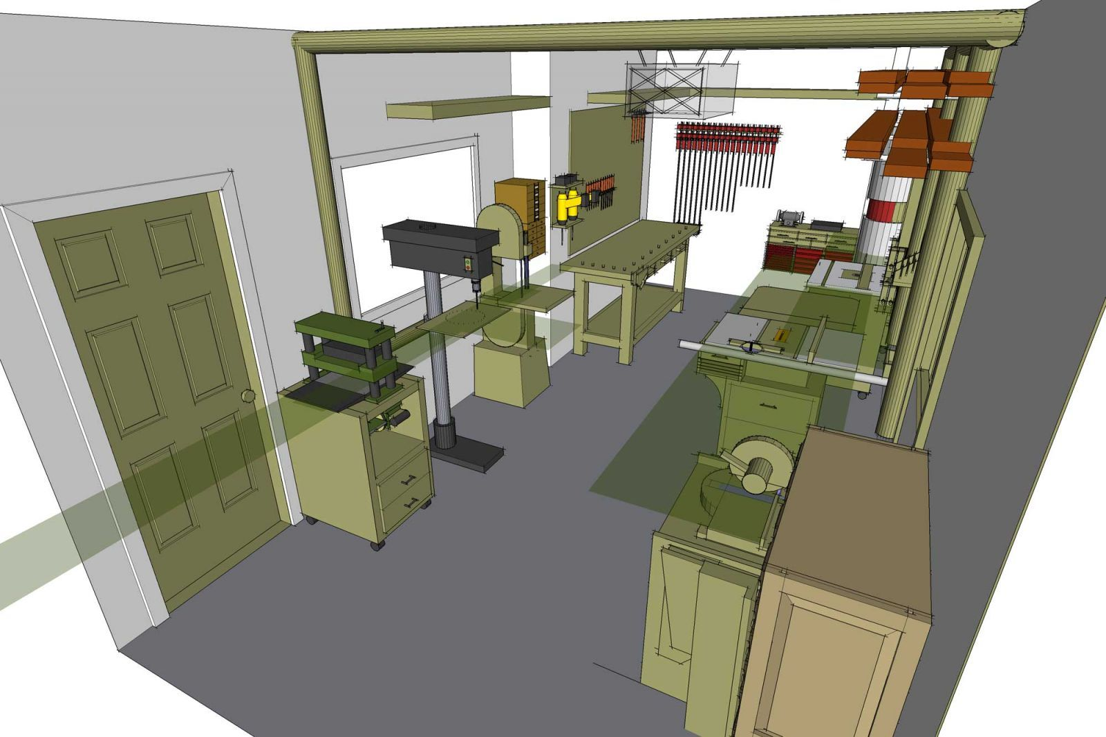 3 D Shop Layout