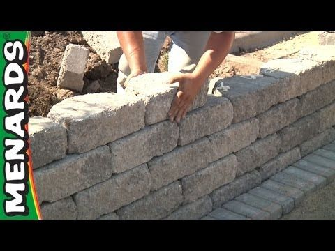 Retaining Wall How To Build Menards Retaining Wall Patio Stones Patio Wall
