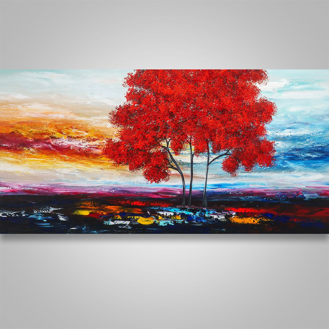 Abstract paintingwall decor home decor abstract wall art tree abstract paintingwall decor home decor abstract wall art tree trees abstract landscape home decor modern landscape large original art amipublicfo Images