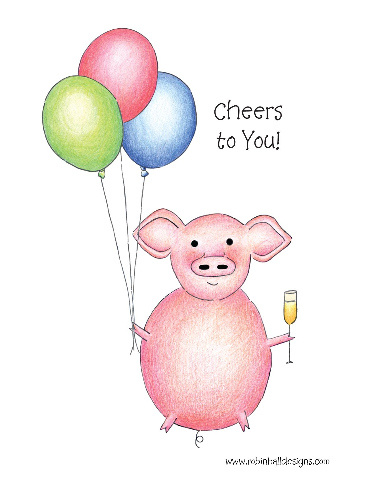 300 pig greeting card appropriate for retirement graduation 300 pig greeting card appropriate for retirement graduation job change birthday kristyandbryce Gallery