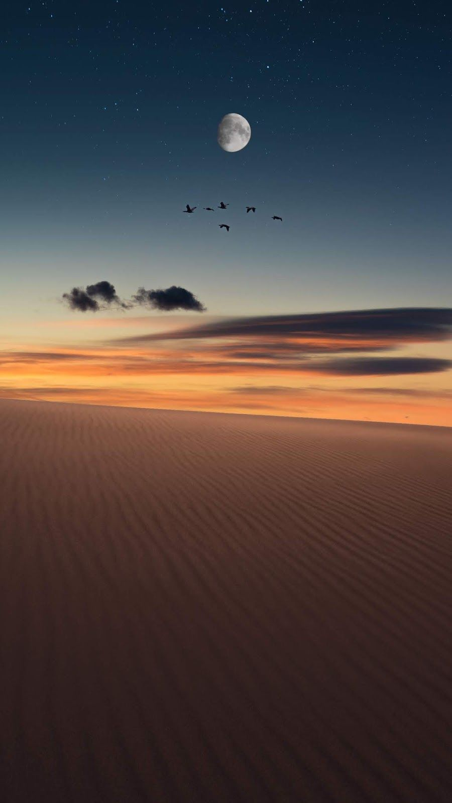Desert Night Sky Sunset Iphone Wallpaper Iphone Wallpaper Sky Sunrise Wallpaper