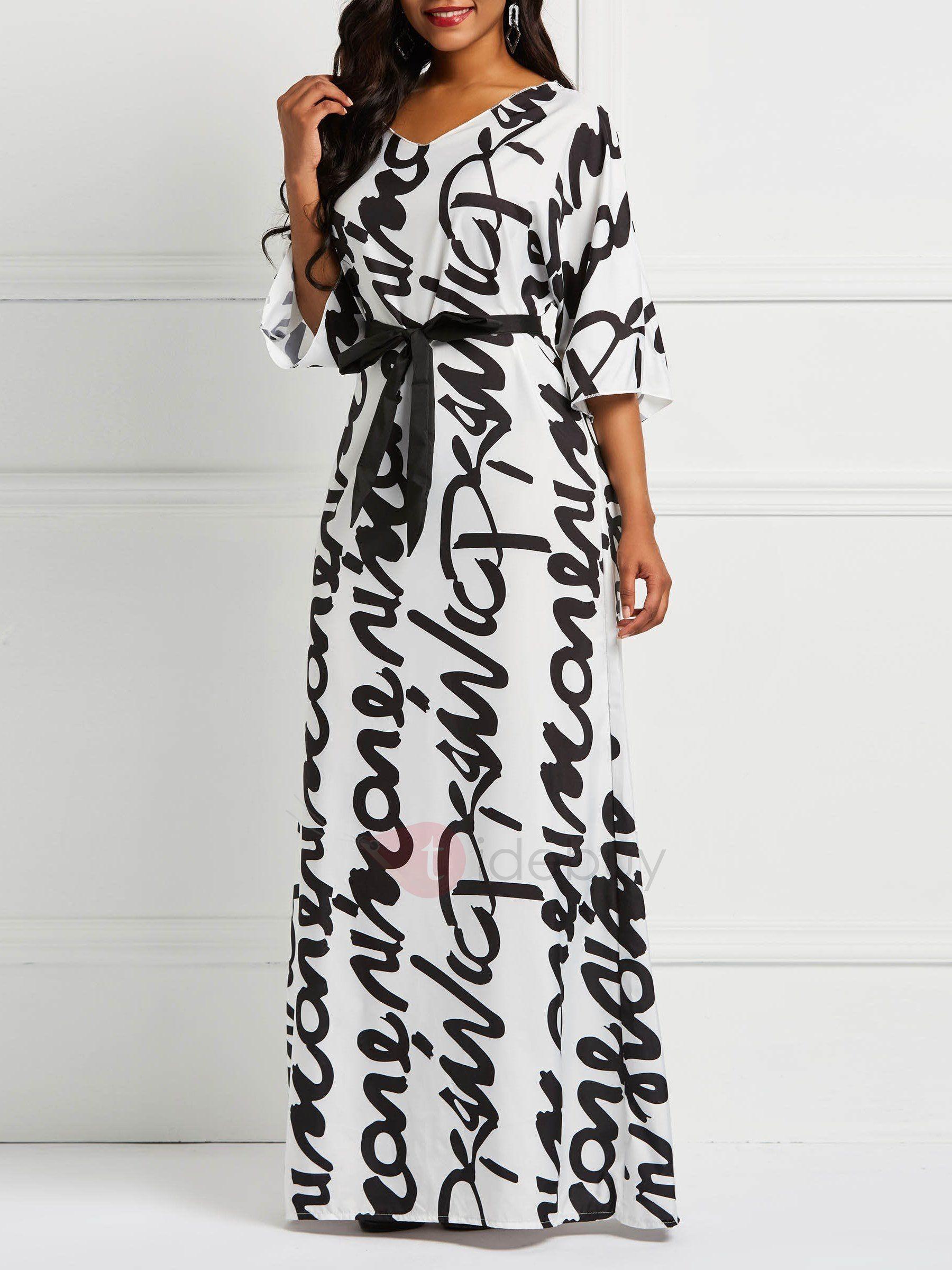 Floor Length V Neck Print Women S Maxi Dress Womens Maxi Dresses Maxi Dress Plus Size Long Dresses [ 2400 x 1800 Pixel ]