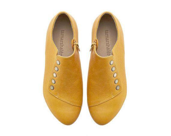 Yellow dress shoes, Grace, comfortable