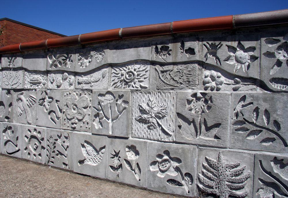 Cast Concrete Wall Lynn Takata Public Artwork Concrete Art School Art Projects
