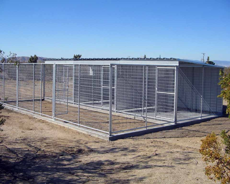 1 2 kennel covered use crush in run instead of concrete for Indoor outdoor dog kennel design