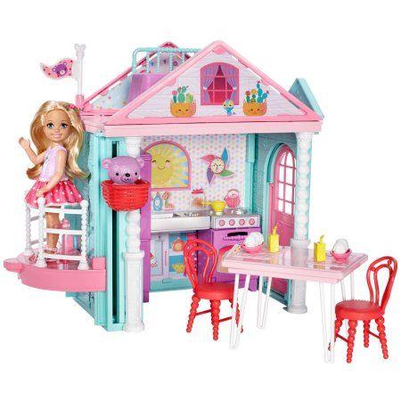 Barbie Club Chelsea Playhouse 2 Story Dollhouse With Chelsea Doll Walmart Com Chelsea Doll Club Chelsea Barbie Doll Set