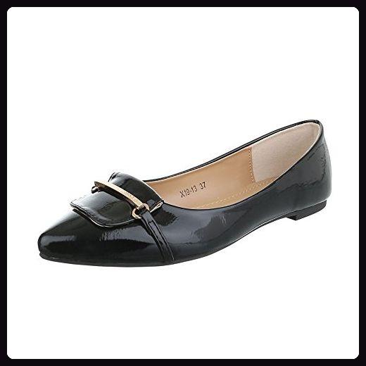 Ballerinas Damen Schuhe Geschlossen Blockabsatz Blockabsatz