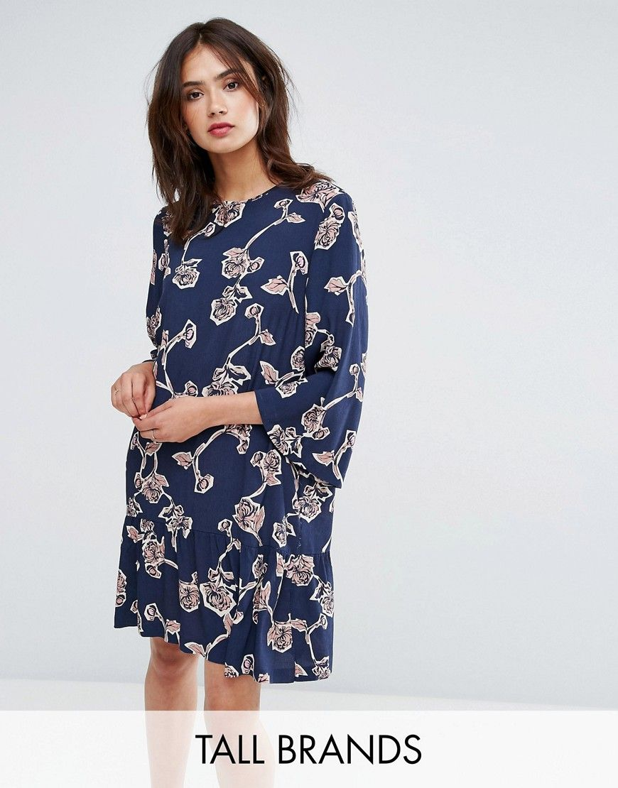 Floral Shift Dress - Cashmere blue Y.A.S Footaction Recommend Clearance Looking For z6YueQ
