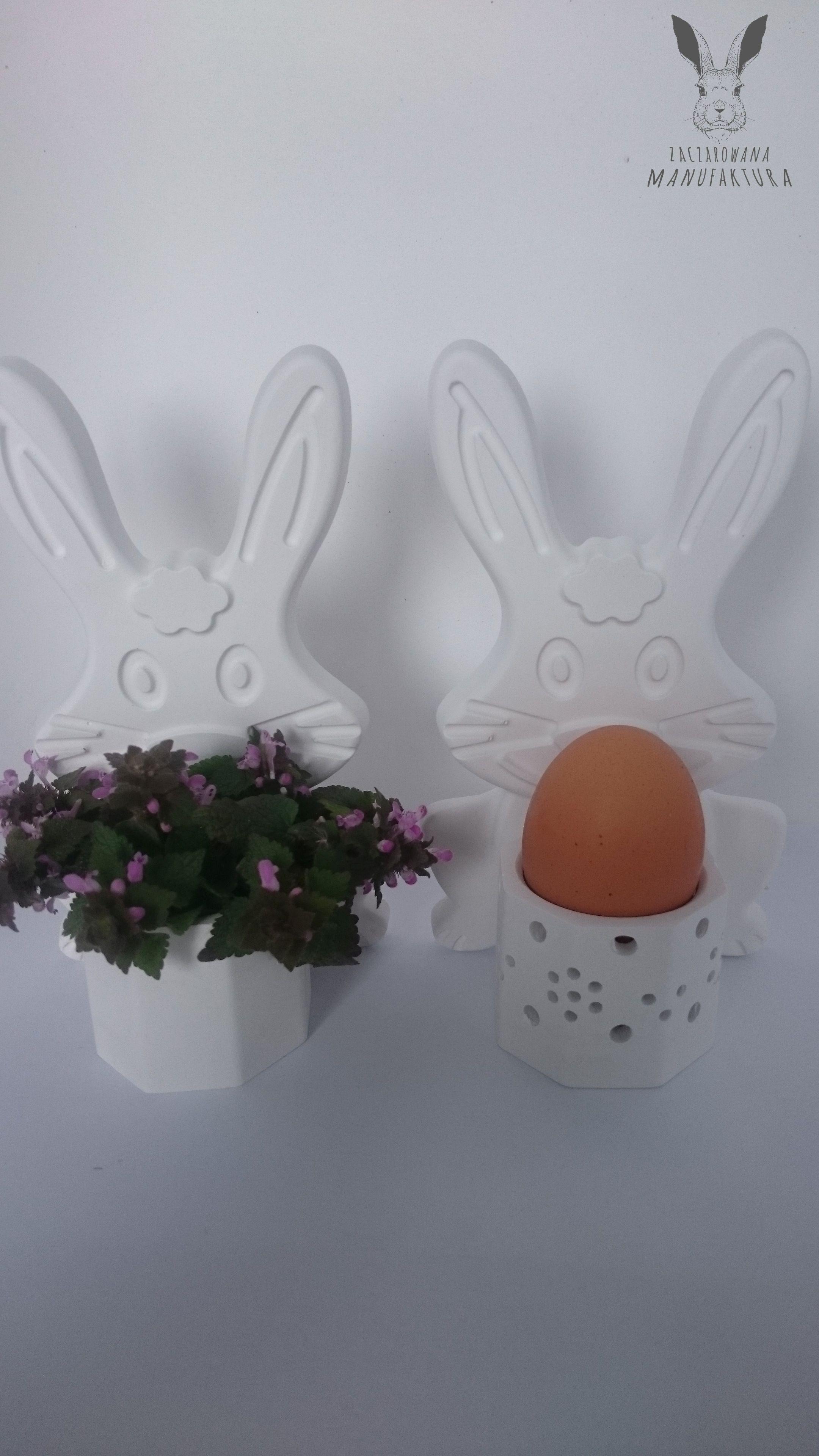 Gipsowe Dekoracje Wielkanocne Doniczki świeczniki Stojaki