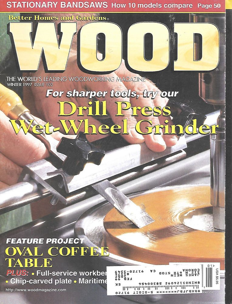 Better Homes And Gardens Wood Magazine Winter 1997 #102 Oval Coffee Table  Drill #BetterHomesGardens