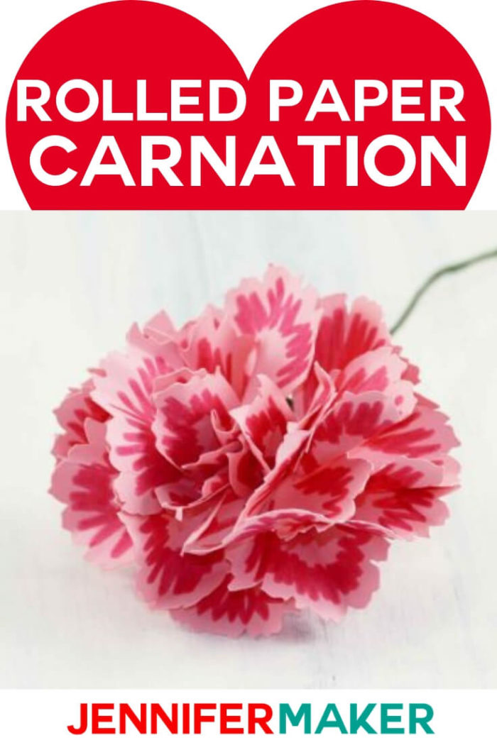 Rolled Paper Carnation Tutorial Free SVG Files Paper