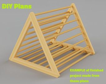 Photo of Centro de actividad del triángulo de Pikler, estructura de escalada plegable, rampas de doble cara