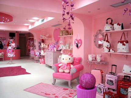 Store I Love The Chair Hello Kitty Store Luxury House Designs Hello Kitty Luxury hello kitty pink room