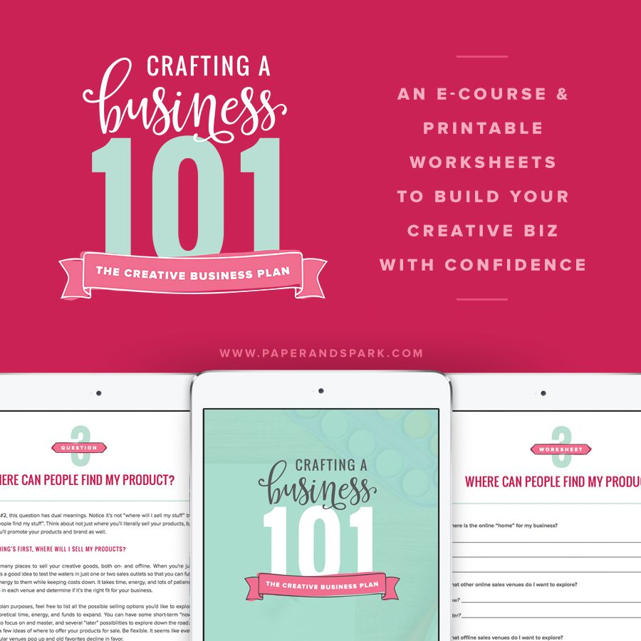 Crafting a Business 101 eworkbook Paper + Spark