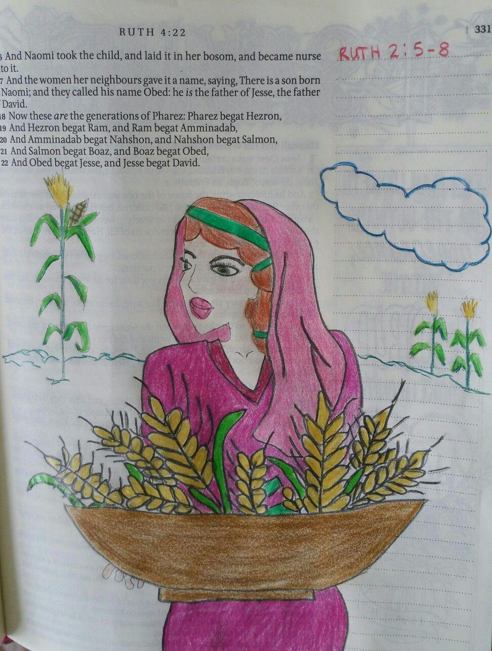 ruth 2 5 18 bible journal ruth pinterest