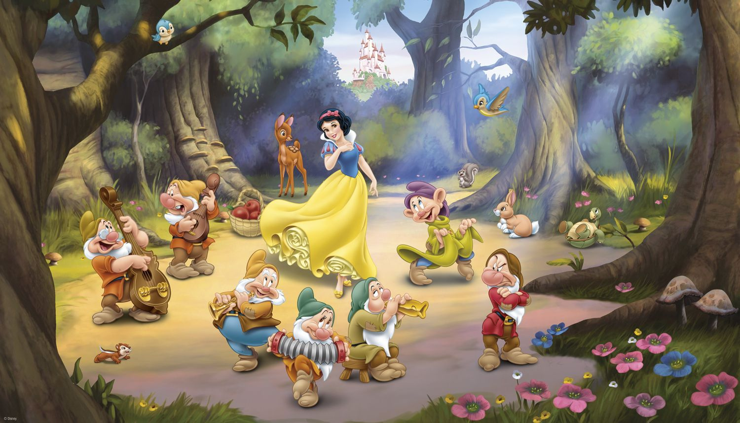 Murals Snow White And The Seven Dwarfs Pre Pasted Xl
