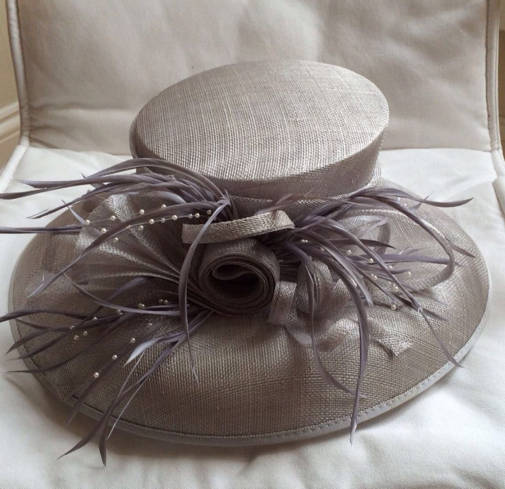 53429bb56b122 Details about Condici Silver Grey Wedding Hat - Mother of the Bride ...