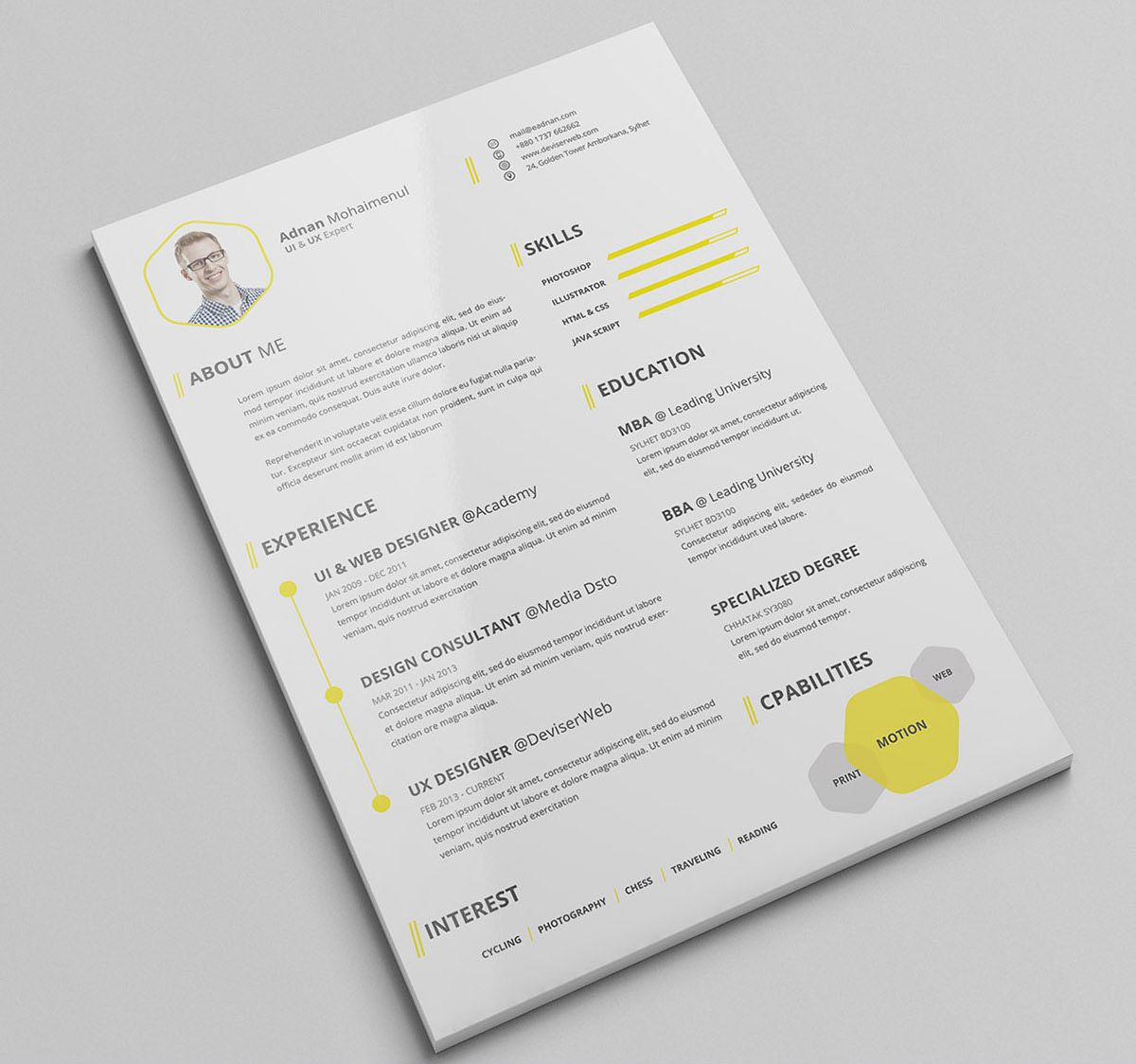 30 Beautifully Designed Resume Examples For Your Inspiration ...