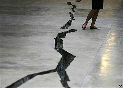 A Crack In The Floor Turbine Hall Tate Modern In London