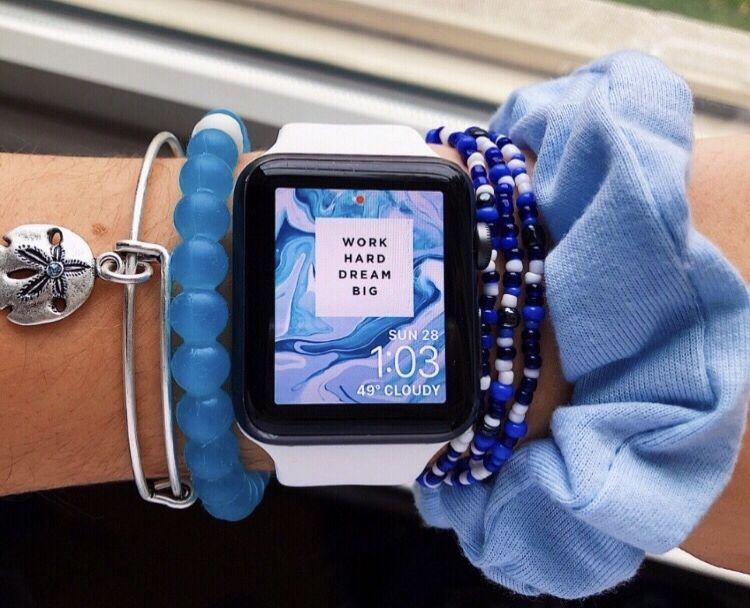 Apple Blue Bracelet Accessories Applewatch Vsco Picture