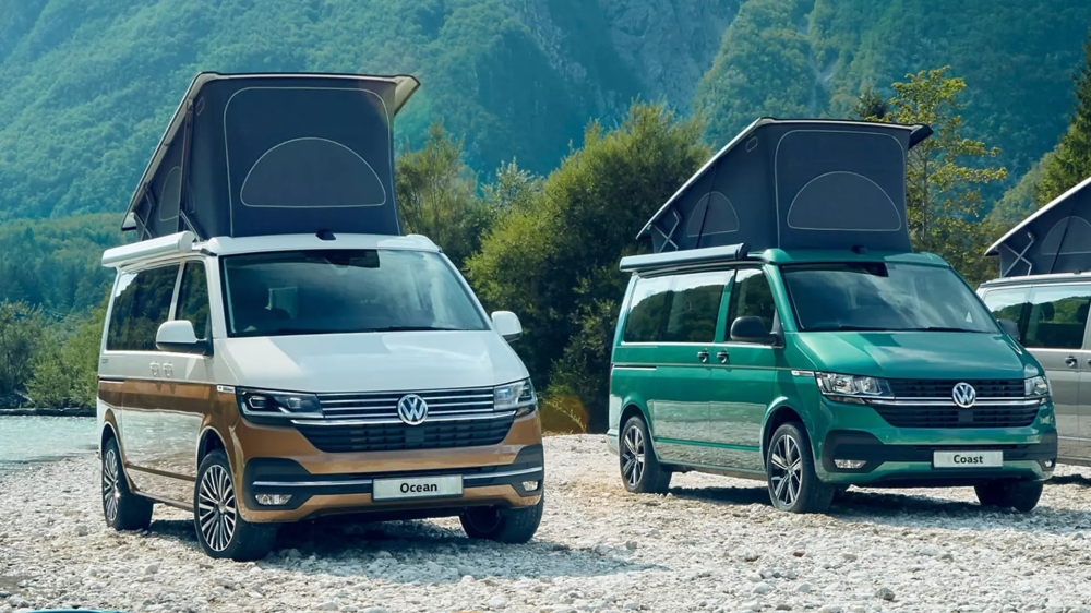 Vw 6 1 California Camper Van Coast Ocean Vw California Camper Van Volkswagen Camper Van
