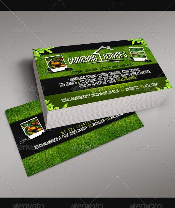 Gardening Business Card 5 Business Card Template Card Template Business Card Design