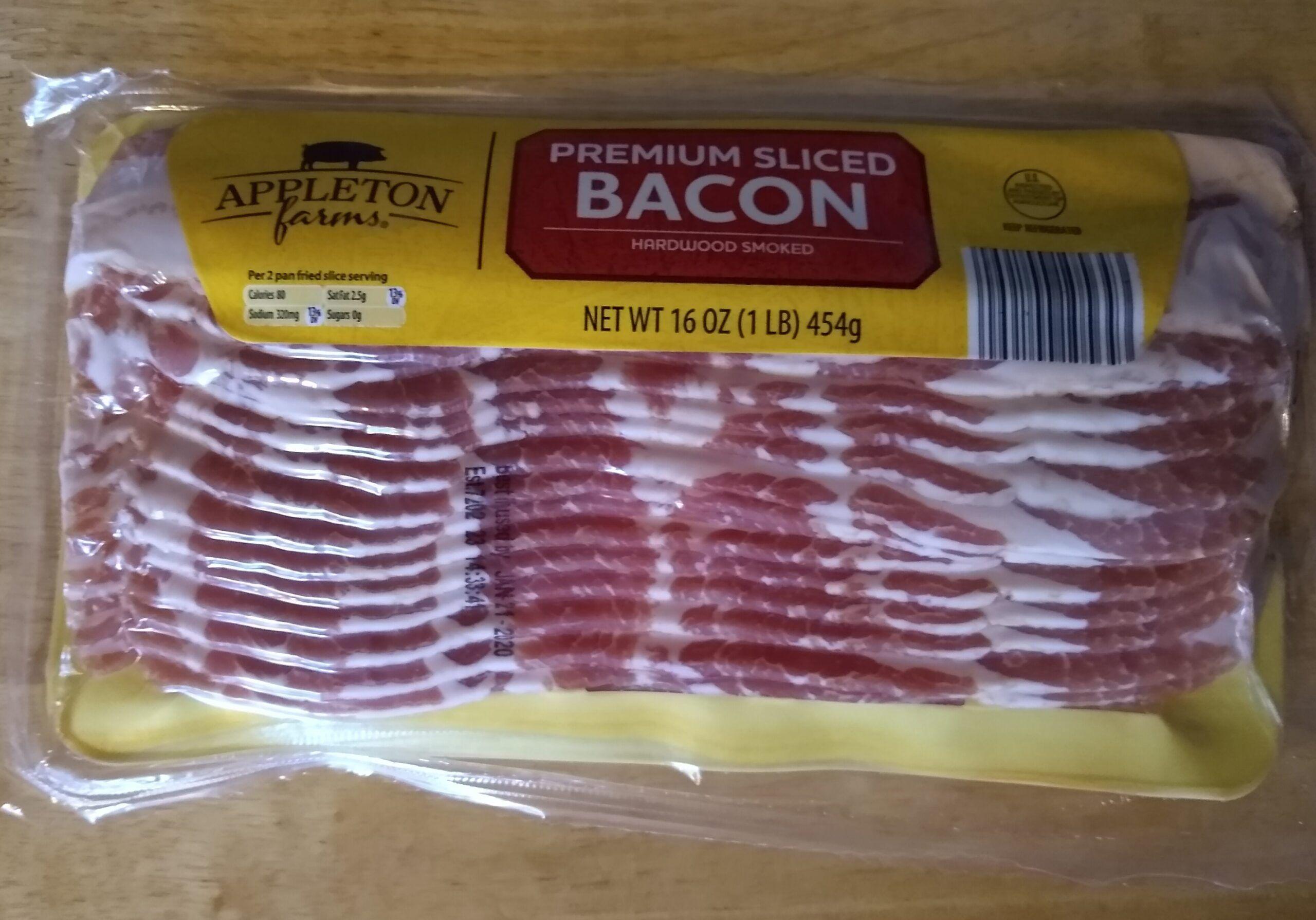 Appleton Farms Premium Sliced Bacon Bacon, Air fry bacon