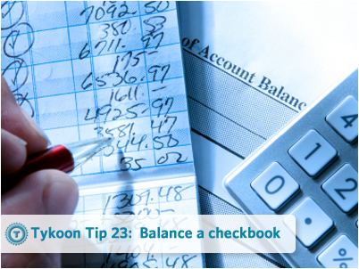 Teach your kids how to balance a checkbook. Bring the younger kids over and show them what you are doing at the end of the month. And teach the older kids how to balance their own checkbook!