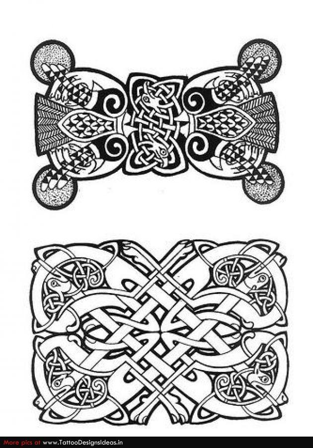 Terrific Celtic Tattoo Designs Patrones Dibujos Celta Vikingos