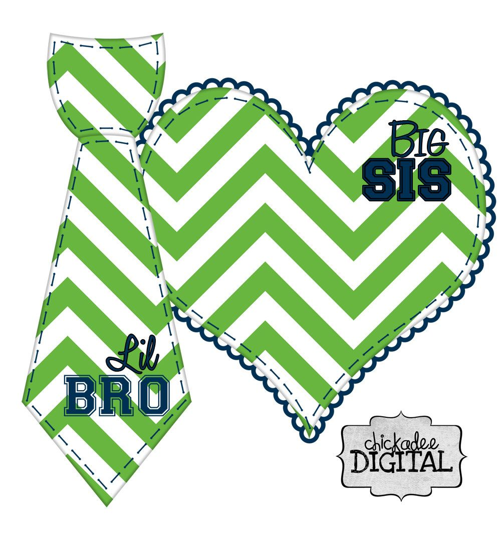 Seattle Seahawks Sports Team Colors Big Sis and Lil Bro