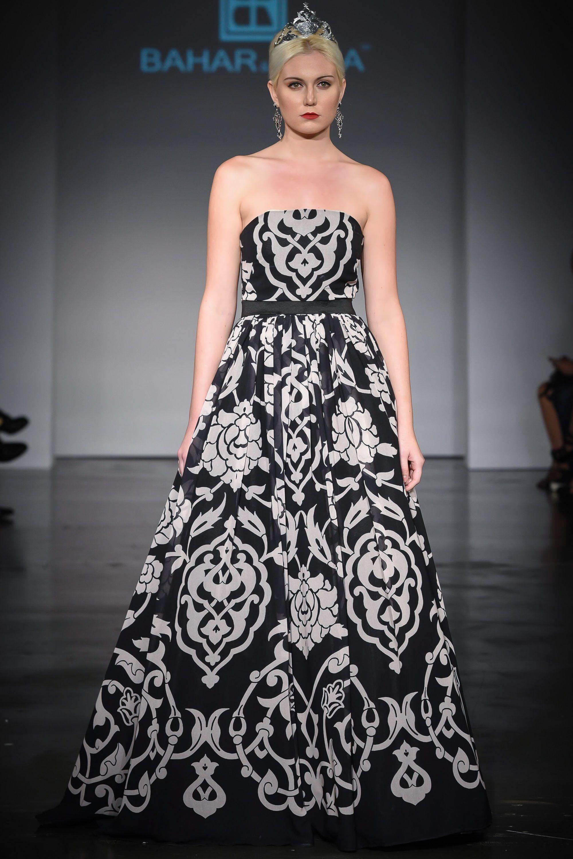 Persian Eslimi Pattern Haute Couture Gown - ALANGOO | ALANGOO ...
