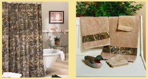 Licensed Realtree Max 4 Camo Shower Curtain Towel Set Bathroom Accessory Gift