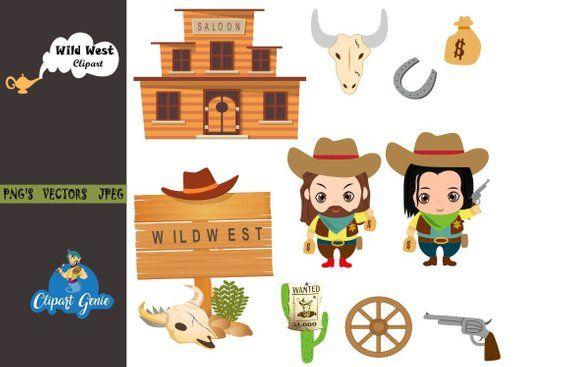 Cactus wild west. Cowboy clipart boots sheriff