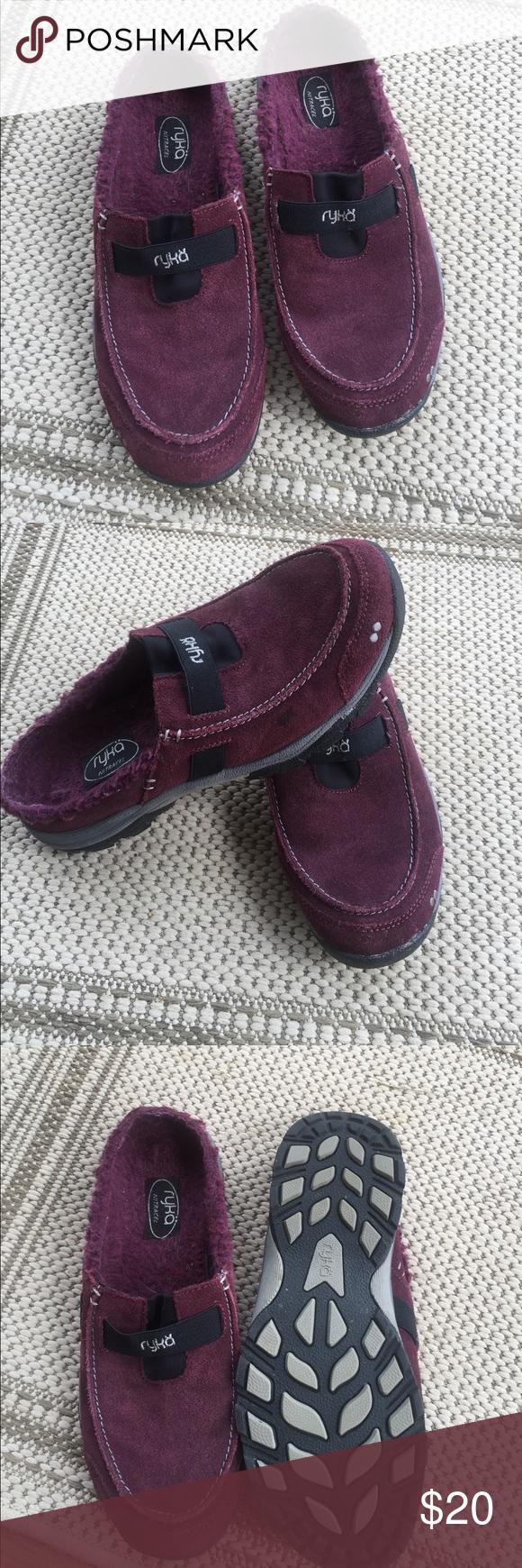 Ryka Slip Ons Size 7 1/2 $20 Ryka Burgundy Suede Slip Ons Size 7 1/2 $20 Ryka Shoes Mules & Clogs