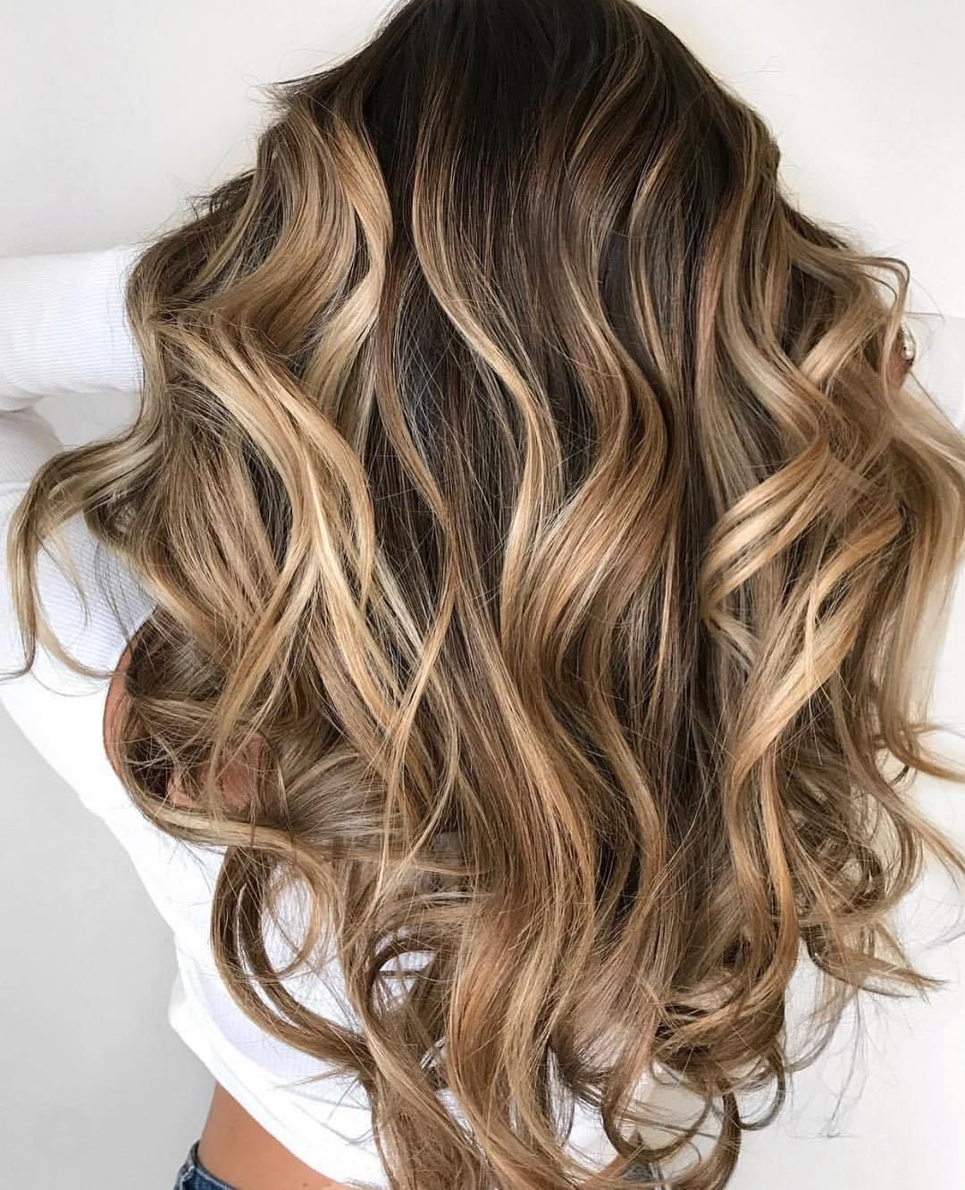 60 Looks With Caramel Highlights On Brown And Dark Brown Hair Brown Blonde Hair Hair Highlights Balayage Hair