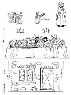 knutsel Judas gaat weg (geen vrienden meer) Bible craft