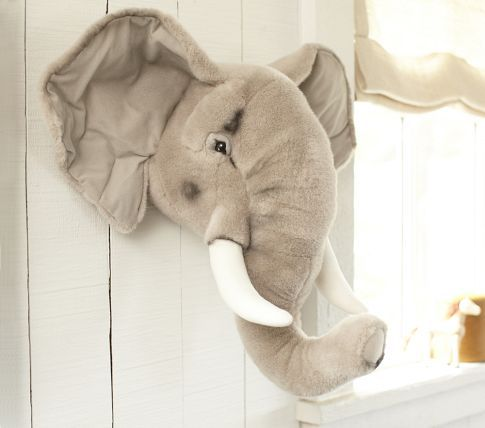 Pottery Barn Kids elephant head for baby room! We loves it! | My ...