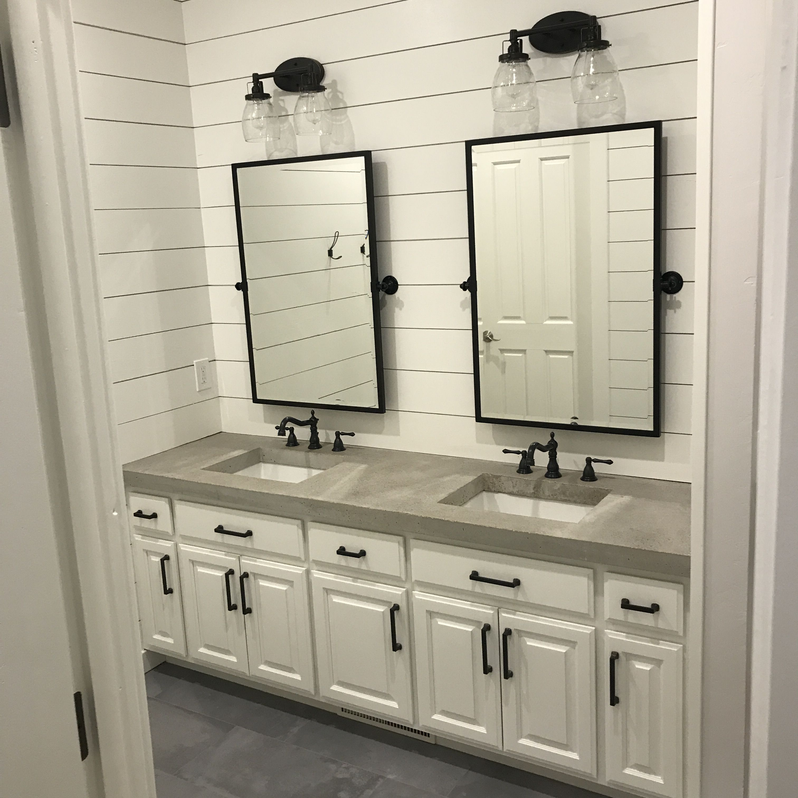 Diy Grey Concrete Vanity Top Bathroom Countertops Diy Concrete