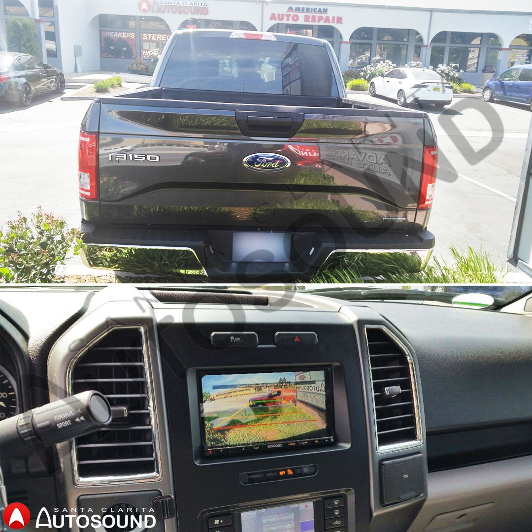 Can you find the backup camera on this ford truck custom dash kenwood android