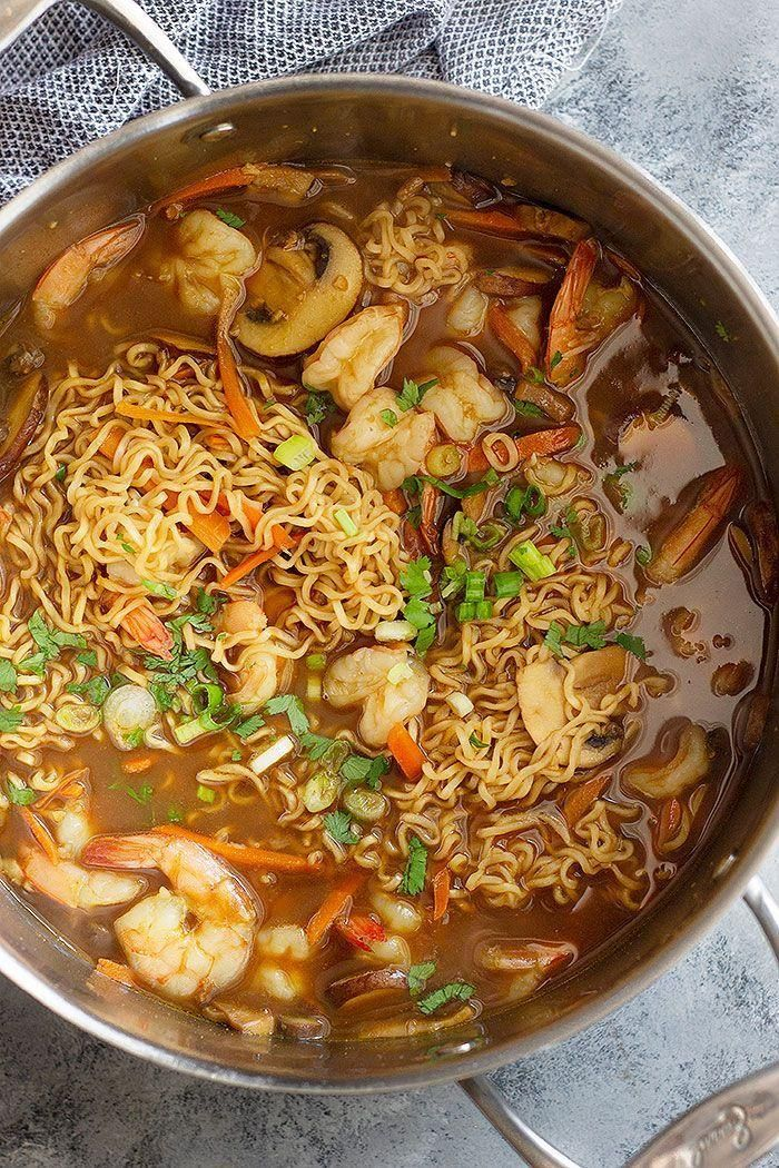 Easy Shrimp Ramen Soup - Ramen-suppe - #Easy #Ramen #Ramensuppe #Shrimp #Soup #ramensuppe