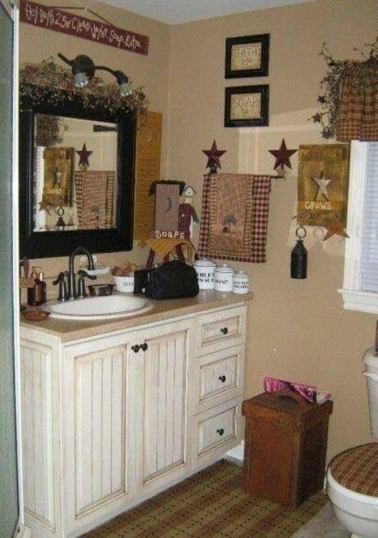 primitive country bathroom ideas. Primitive Country · Americana Bath Bathroom Ideas N