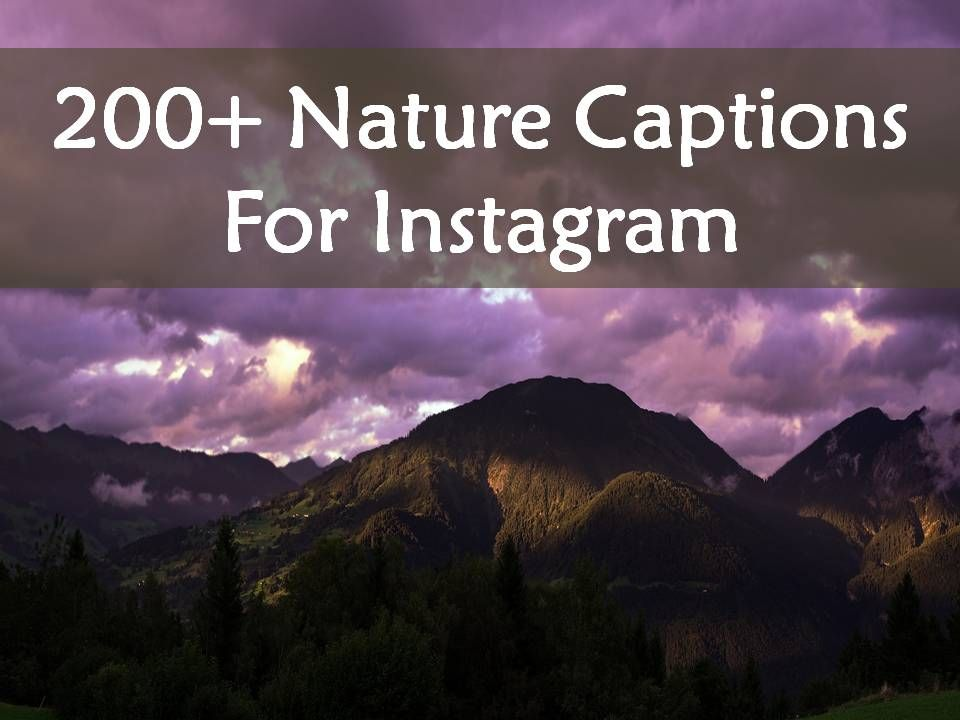200 Nature Captions For Instagram Nature Captions For Instagram Good Instagram Captions Instagram Captions