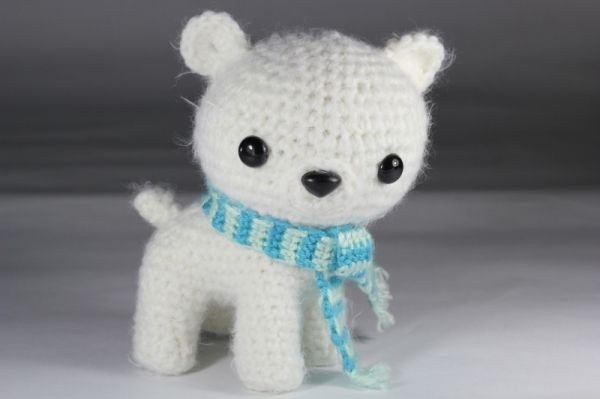 Peppermint the Polar Bear Cub amigurumi pattern by Epic Kawaii ...