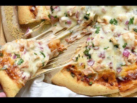 طريقة عمل البيتزا بالدجاج وصوص الباربكيو Food Hawaiian Pizza Pizza