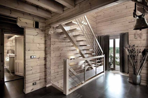 Int rieur 10 ski chalets pinterest chalet for Interieur chalet contemporain