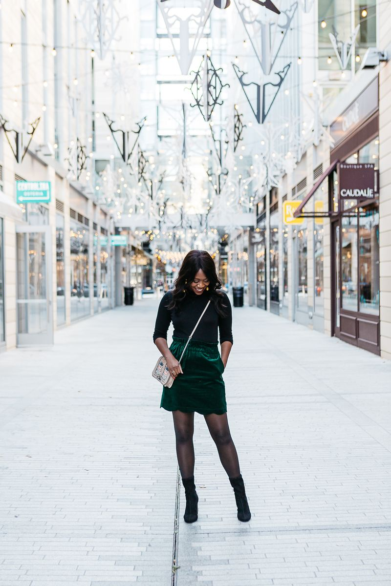 b279b487a065 Looking for a cute and professional outfit for your next Work Holiday Party?  Washington DC blogger Alicia Tenise shares the perfect one. Click here now!