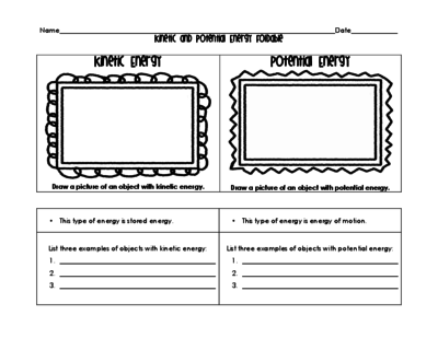 This worksheet provides practice for whether energy is kinetic or ...