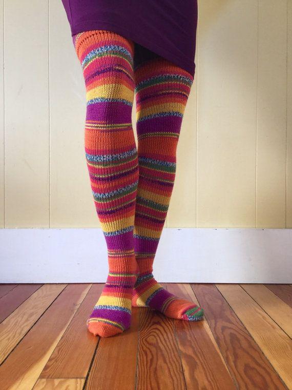 7-8 thigh high wool socks by agoodyarnfarm on Etsy