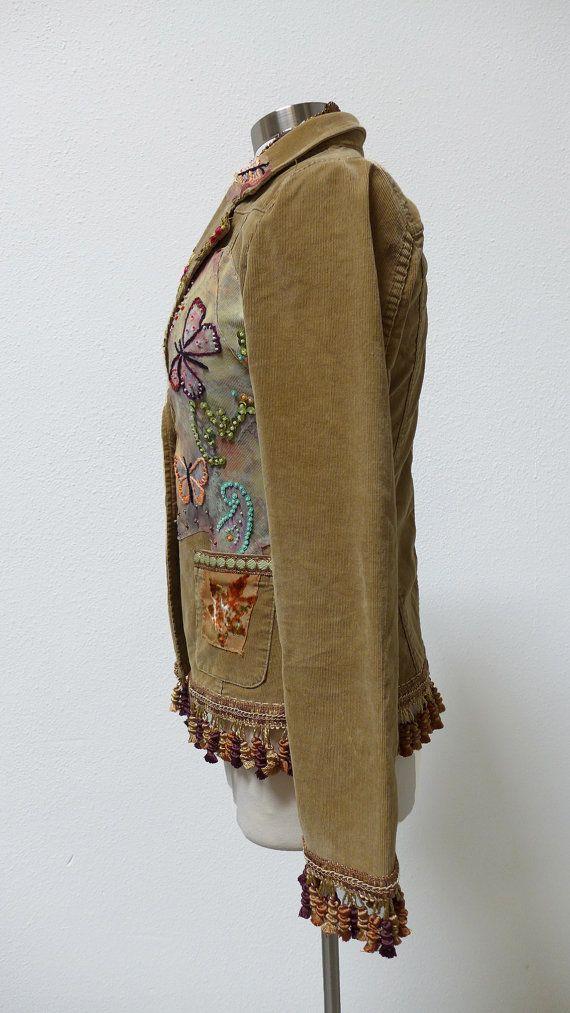 Steampunk jacketBoho jacket Janis Joplin summer by CivisMundi