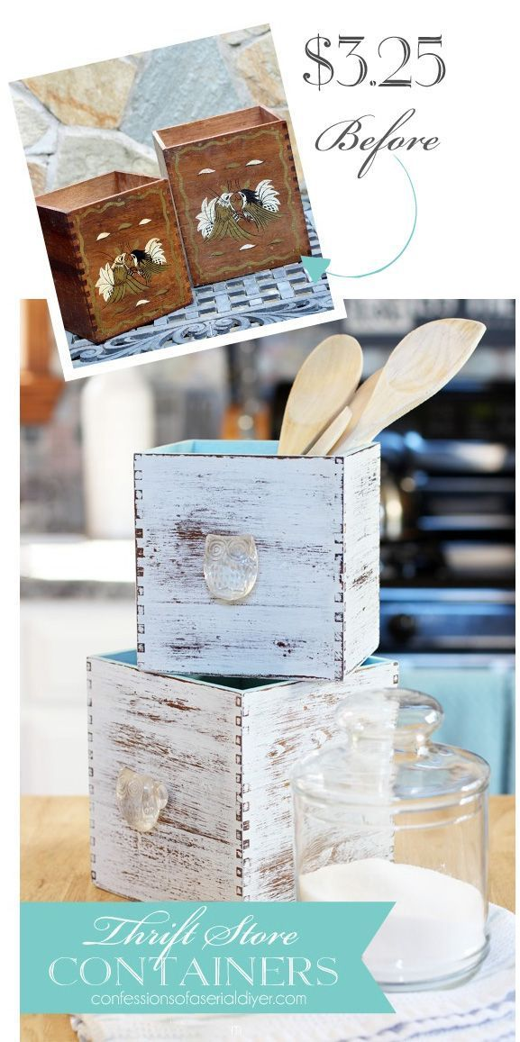 Thrift Store Container Update #thriftstoreupcycle